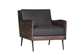 Arden Slate Leather Accent Chair