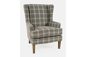 Bingham Grey Windowpane Accent Chair