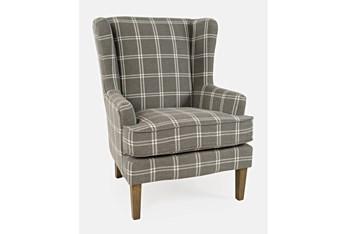Bingham Grey Windowpane Accent Chair