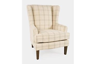 Bingham Beige Windowpane Accent Chair
