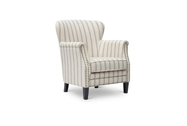Baylor Flax Striped Accent Chair