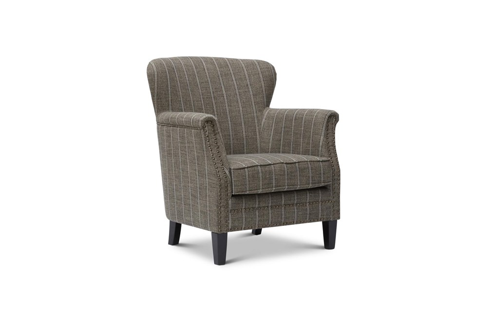 Baylor Mocha Striped Accent Chair