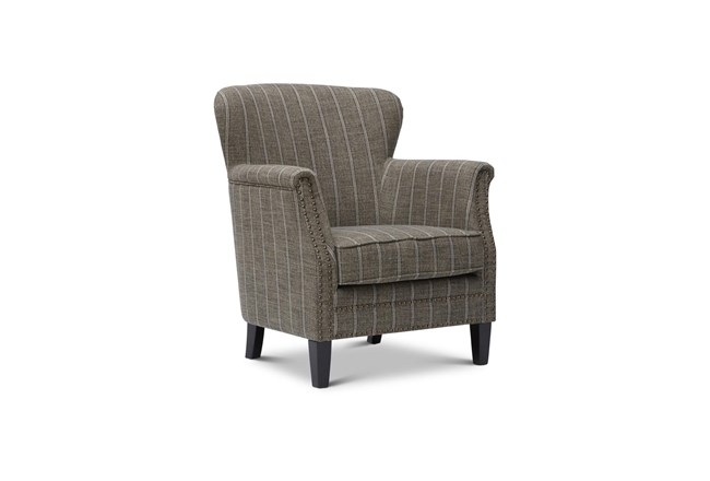 Baylor Mocha Striped Accent Chair - 360