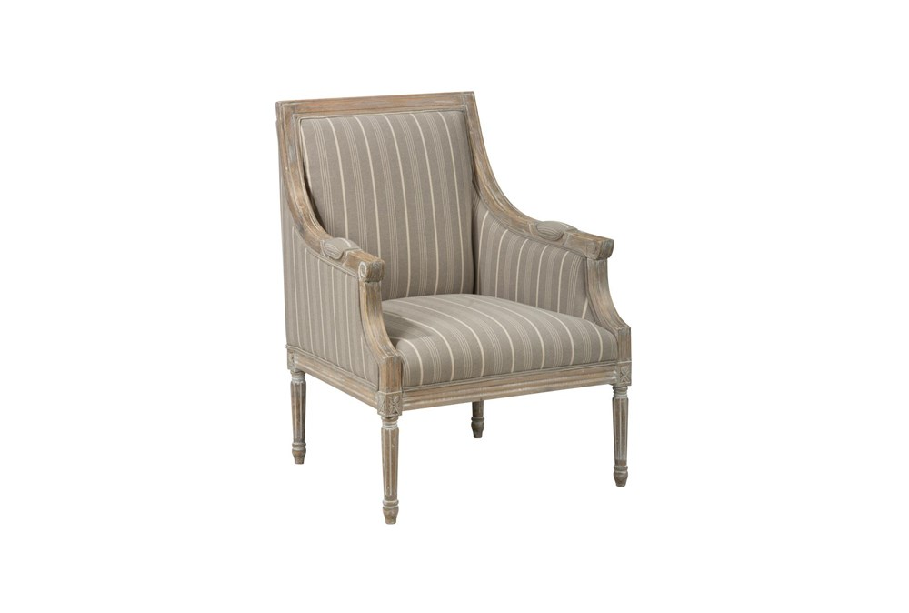 Ashby Taupe Striped Accent Chair