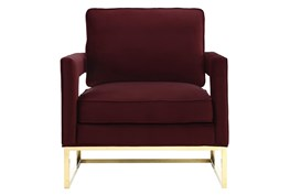 Evelyn Maroon Velvet Accent Chair
