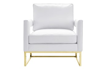 Evelyn White Vegan Leather Accent Chair