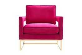 Evelyn Pink Velvet Accent Chair