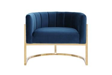 Deanna Navy Velvet Accent Chair