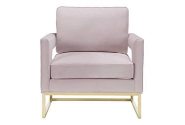 Evelyn Blush Velvet Accent Chair