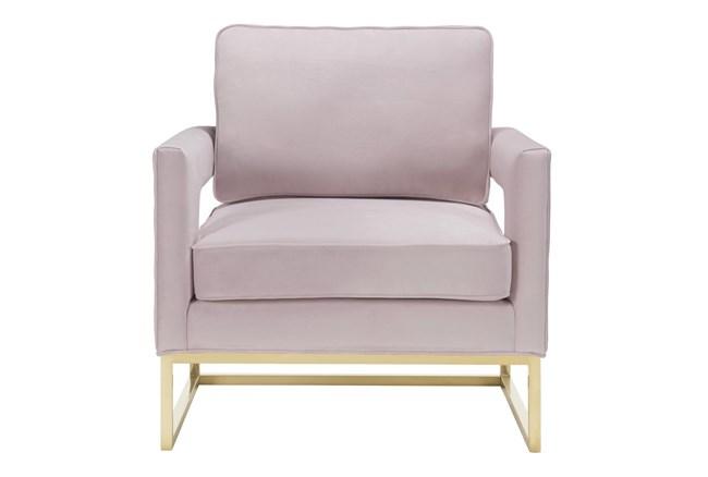 Evelyn Blush Velvet Accent Chair - 360
