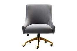 Rosalind Grey Velvet Desk Chair