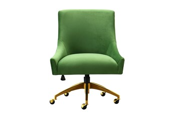 Rosalind Green Velvet Desk Chair
