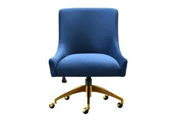 Rosalind Navy Velvet Desk Chair