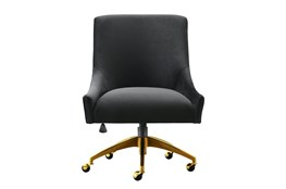 Rosalind Black Velvet Desk Chair