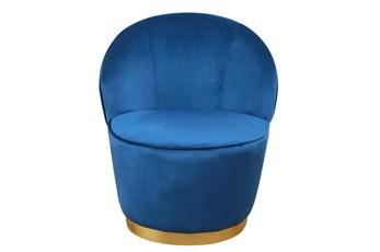 Josephine Navy Velvet Accent Chair
