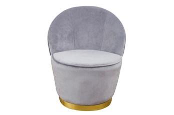 Josephine Grey Velvet Accent Chair