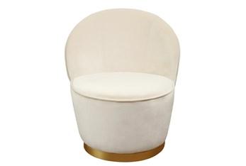 Josephine Ivory Velvet Accent Chair