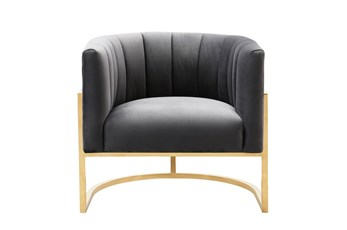 Deanna Grey Velvet Accent Chair