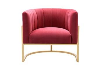 Deanna Hot Pink Velvet Accent Chair