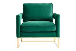 Evelyn Green Velvet Accent Chair