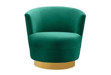 Florence Green Velvet Swivel Accent Chair