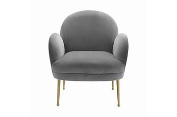 Constance Grey Velvet Accent Chair