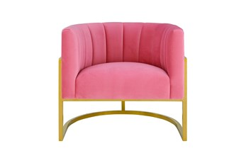Deanna Rose Pink Velvet Accent Chair