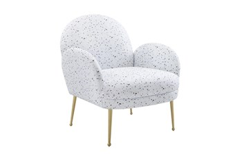 Constance Terrazzo Print Velvet Accent Chair