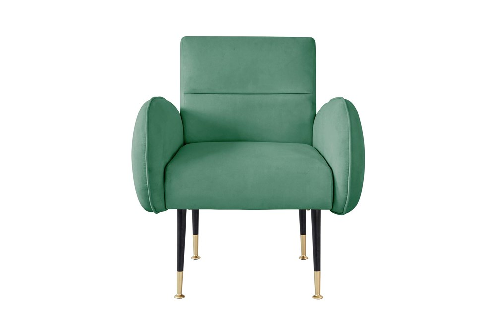 Mae Mint Green Velvet Accent Chair