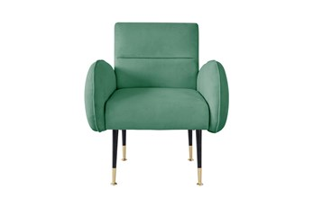 Mae Mint Green Velvet Accent Chair