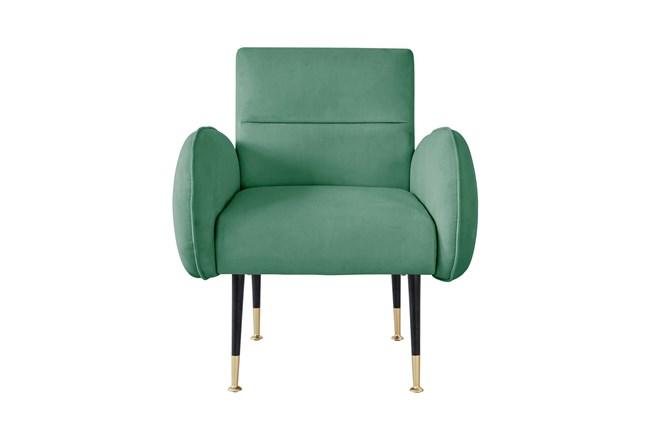 Mae Mint Green Velvet Accent Chair - 360
