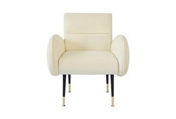 Mae Custard Velvet Accent Chair