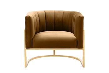 Deanna Cognac Velvet Accent Chair