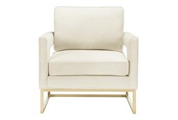 Evelyn Cream Velvet Accent Chair