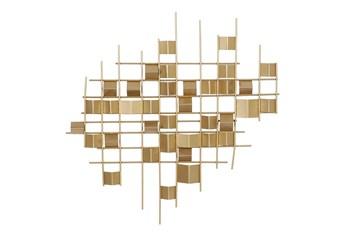 32X32 Gold Iron Contemporary Wall Decor