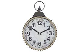 20 Inch Black Iron Wall Clock