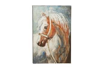 32X47 Horse Head Canvas Wall Art
