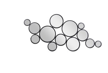 24X52 Black Iron Wall Mirror