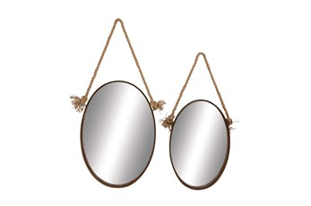 Metal Rope Mirror Set Of 2