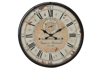 32X32 White Wood Wall Clock