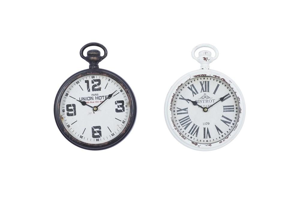 11X8 Iron Wall Clock Set Of 2