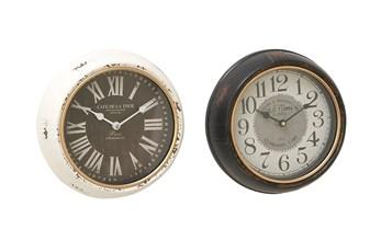 10 Inch Iron Wall Clock Set Of 2