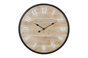 32X32 Multi Color Wood Wall Clock