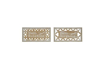 White Wood Wall Décor Signs Set Of 2