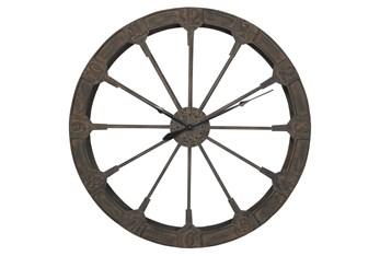 48X48 Brown Iron Wall Clock