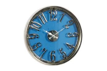 16X16 Blue Aluminum Wall Clock