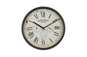 14X14 Brown Iron Wall Clock