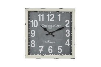 14X14 White Iron Wall Clock