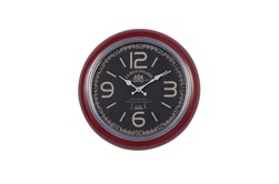 17X17 Red Iron Wall Clock