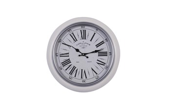 17X17 White Iron Wall Clock